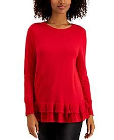 Ruffle-Hem Sweater, Created for Macy's