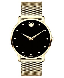Unisex Swiss Museum Classic Gold-Tone PVD Stainless Steel Mesh Bracelet Watch 40mm