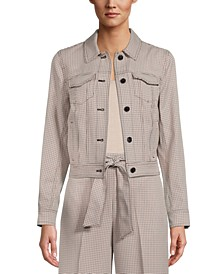 Plaid Button-Front Jacket, Created for Macy's