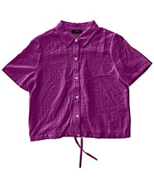 Drawstring-Hem Shirt, Created for Macy's
