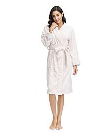 """Women's Embossed Plush Robe 42"""" Hps"""