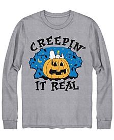 Men's Creepin It Real Cookie Monster Halloween Long Sleeve T-shirt