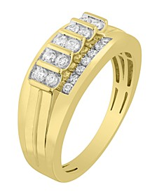 Men's Diamond (1/2 ct. t.w.) Ring in 10K White or Yellow Gold