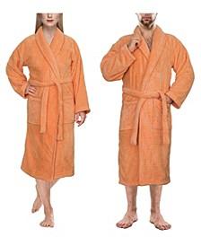 Men's and Women's Luxury Hotel Spa Warm Shawl Collar Soft Plush Fleece Bath Robe