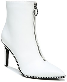 Women's Briget Front-Zip Booties, Created for Macy's