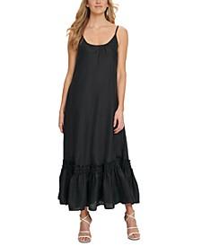 Ruffled-Hem Cami Maxi Dress