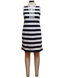 Split-Neck Ottoman Stripe Dress, Created for Macy's