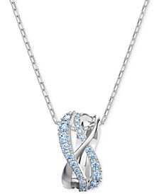 """Silver-Tone Crystal Intertwined Pendant Necklace, 14-7/8"""" + 2"""" extender"""