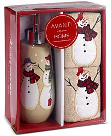 Snowman Gathering 3-Pc. Bath Box Set