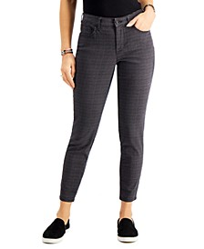 Plaid Curvy Skinny Jeans, Created for Macy's