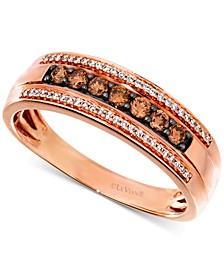 Chocolatier® Men's Diamond Ring (1/2 ct. t.w.) in 14k Rose Gold