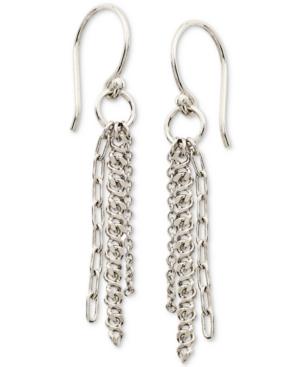 Triple-Chain Drop Earrings