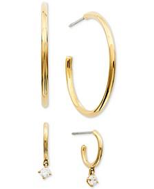 2-Pc. Set Cubic Zirconia Hoop Earrings