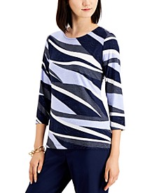Abstract-Print Top, Created for Macy's