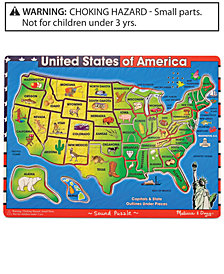 Melissa and Doug Kids Toy, U.S.A. Sound Puzzle