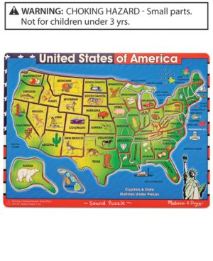 Melissa and Doug Kids Toy, U.s.a. Sound Puzzle 1095755
