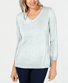 Plus Size Luxsoft V-Neck Top, Created for Macy's