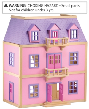 Melissa and Doug Kids Toy MultiLevel Wooden Dollhouse