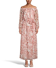 INC Paisley-Print Off-The-Shoulder Maxi Dress, Created for Macy's