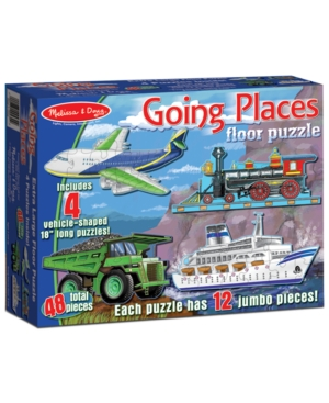 Melissa and Doug Kids Toy Going Places 48Piece Floor Puzzle