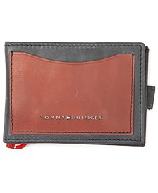 Men's Colorblocked RFID Money-Clip Wallet