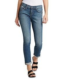 Plus Size Beau Slim-Leg Boyfriend Jeans