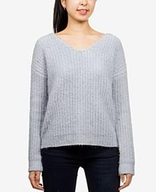 Juniors' Fluffy Chenille Sweater
