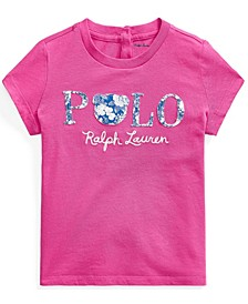 Baby Girls Floral Polo Jersey Tee