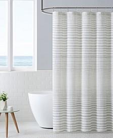 Tidal Stripe Shower Curtain