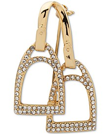 Gold-Tone Pavé Stirrups Pin