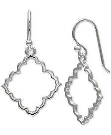 Moroccan-Style Open Drop Earrings in Sterling Silver, Created for Macy's
