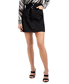 GUESS Camila Paper-Bag Mini Skirt
