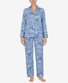 로렌 랄프로렌 잠옷 파자마 세트 Lauren Ralph Lauren Printed Pajamas Set,Blue Pais