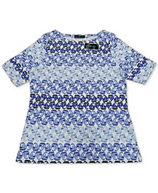 Sail Boat-Print Top, Created for Macy's