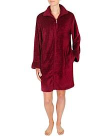 Short Fleece Zipper Robe