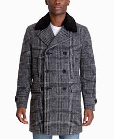 Men's Middlefield Classic-Fit Stretch Plaid Top Coat