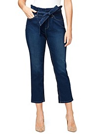 Women's Paper Bag Crop Jeans