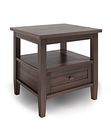 Warm Shaker Solid Wood End Table