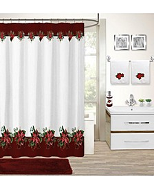 CLOSEOUT! Holiday Poinsettia 17-Pc. Bath Set