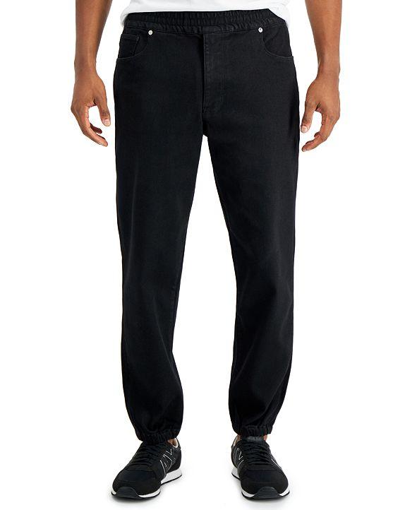 A|X Armani Exchange Fleece Jogger Fit Jeans