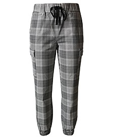 Juniors' Plaid Jogger Pants