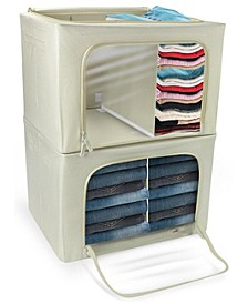 Storage Bin and Organizer Set with Carry Handles