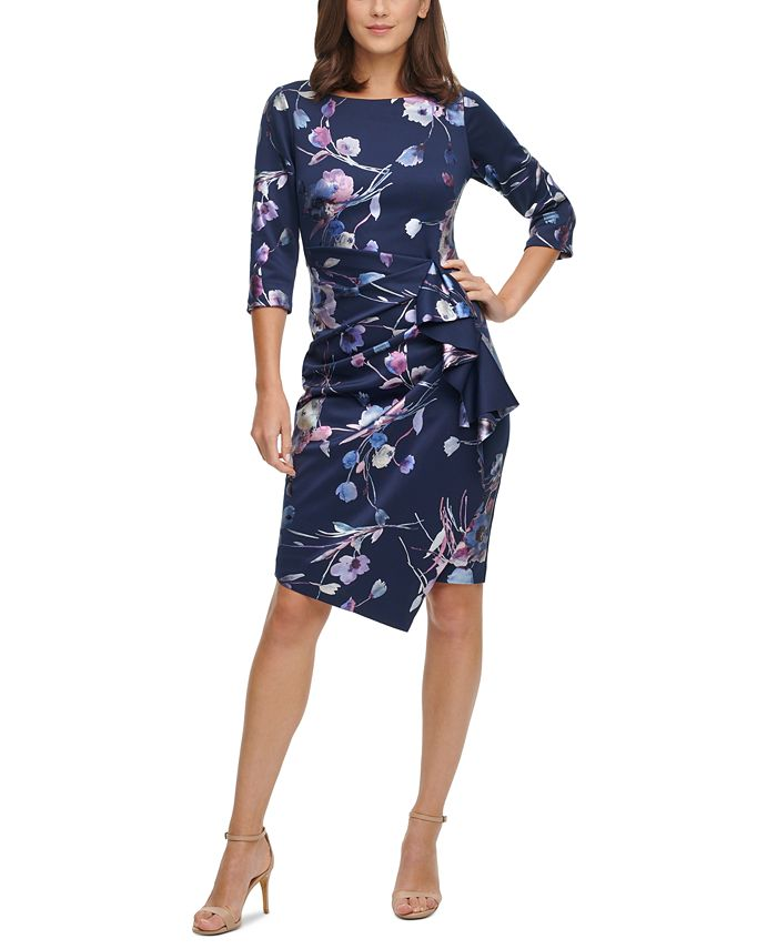 Jessica Howard - Cascading-Ruffle Dress