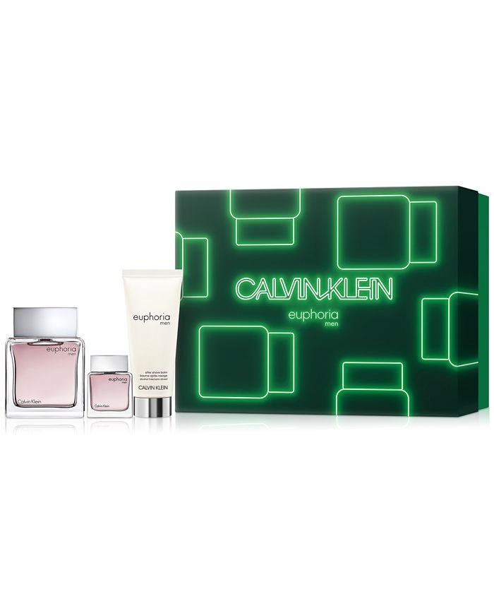 Calvin Klein - Men's 3-Pc. Euphoria For Men Eau de Toilette Gift Set