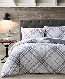 House Khalvin Plaid 7 Piece Comforter Set, Queen