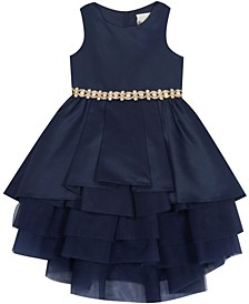 Toddler Girl Satin Two Tier Dress