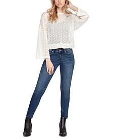 Cotton Fine-Gauge Crochet Sweater