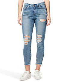 WILLIAM RAST Ripped High-Rise Ankle Skinny Jeans