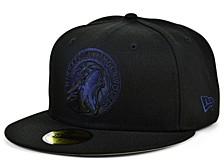 Minnesota Timberwolves Blackout Pop 59FIFTY Cap