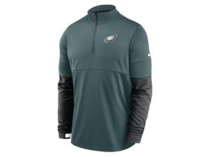 Nike Philadelphia Eagles Men's Sideline Half Zip Therma Top